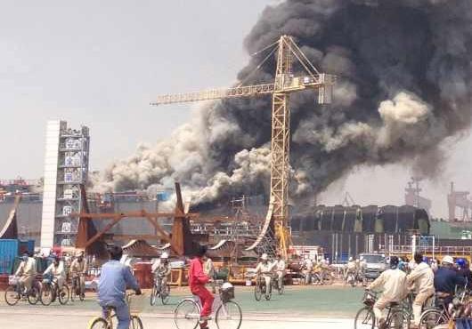 Avance Newbuilding Catches Fire