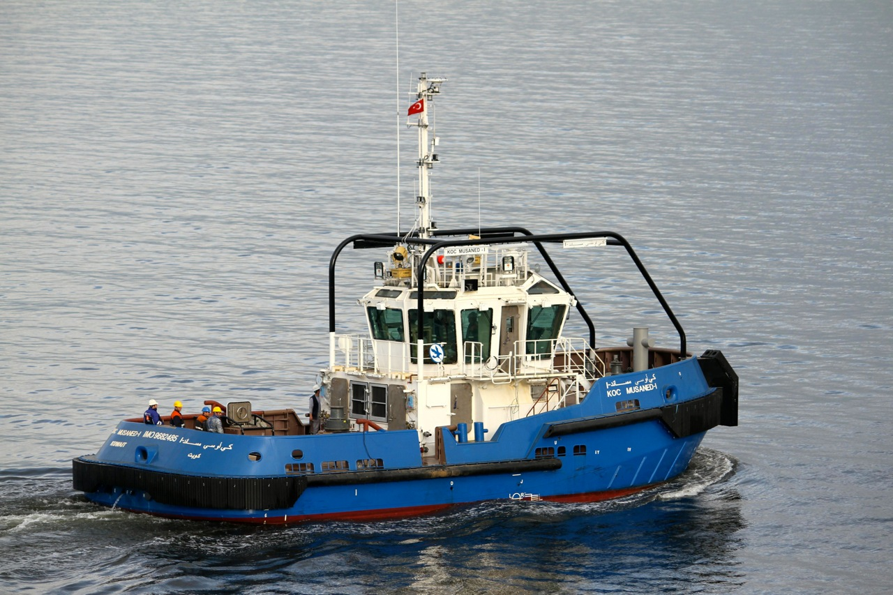 UZMAR's Super Silent Smart Tug KOC MUSANED-2 Returns from Sea Trials
