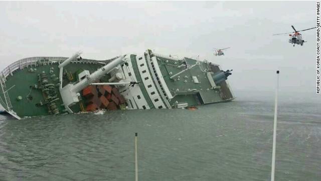 No air pockets found on key floors of sunken Sewol ferry