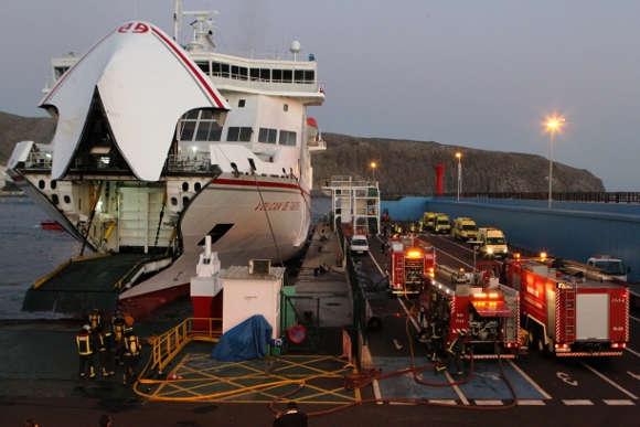 Hundreds safe after ferry blaze off Tenerife coast