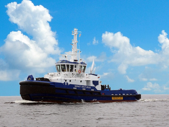 Signet Maritime takes delivery of ASD tractor tug from Patti Marine
