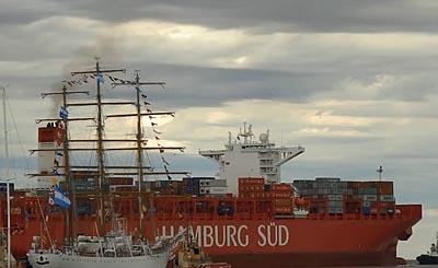 "Hamburg Süd christened its new container ship ""Cap San Raphael"" at Hamburg"