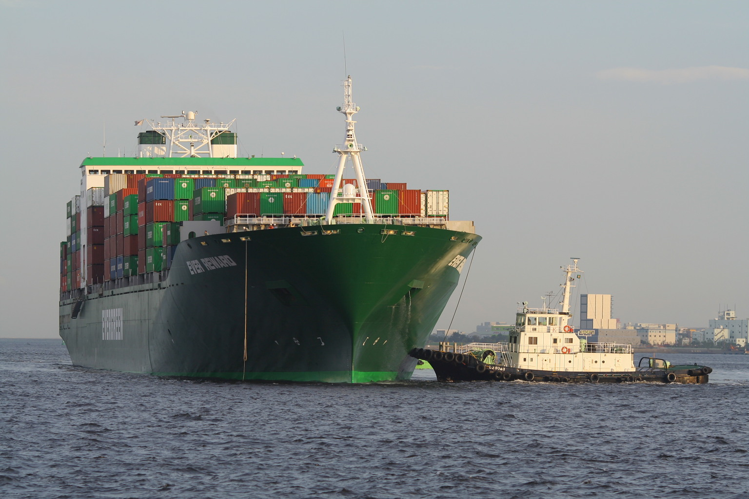 Evergreen takes chartered 13,808-TEU newbuilding from Enesel