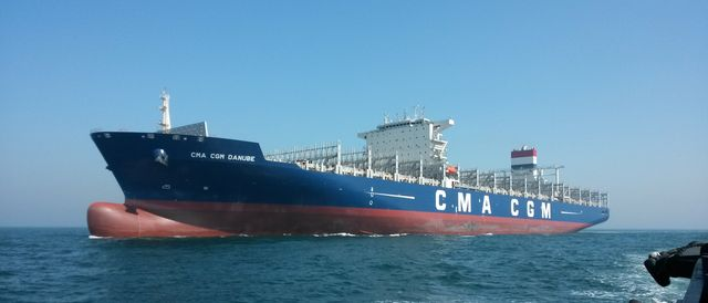 First of 9,400-TEU ships in 28-ship series is sent to CMA CGM