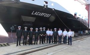 Icelandic shipping company Eimskip is to receive 875-TEU Lagarfoss