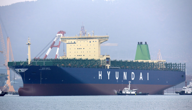 HMM receives 13,100-TEU Hyundai Victory, fourth of five sister ships
