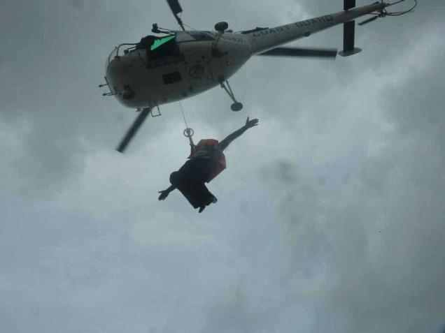 Indian Coast Guard Airlifts 11 Crew from Listing Cargo Ship MV Priyanka