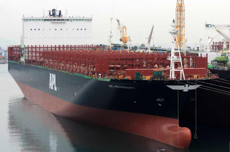 9,200-TEU Mexico City is delivered to APL for Asia-USEC trades