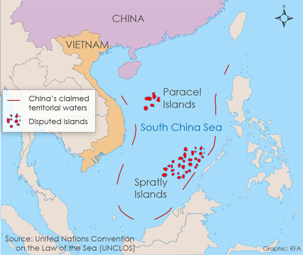 China tells US to stay out of South China Seas maritime disputes