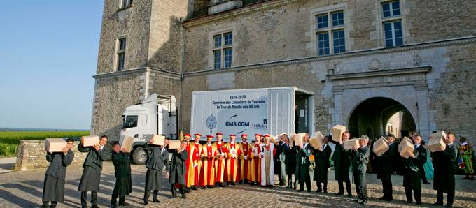 CMA CGM transports 420 bottles of Burgundy across five continents