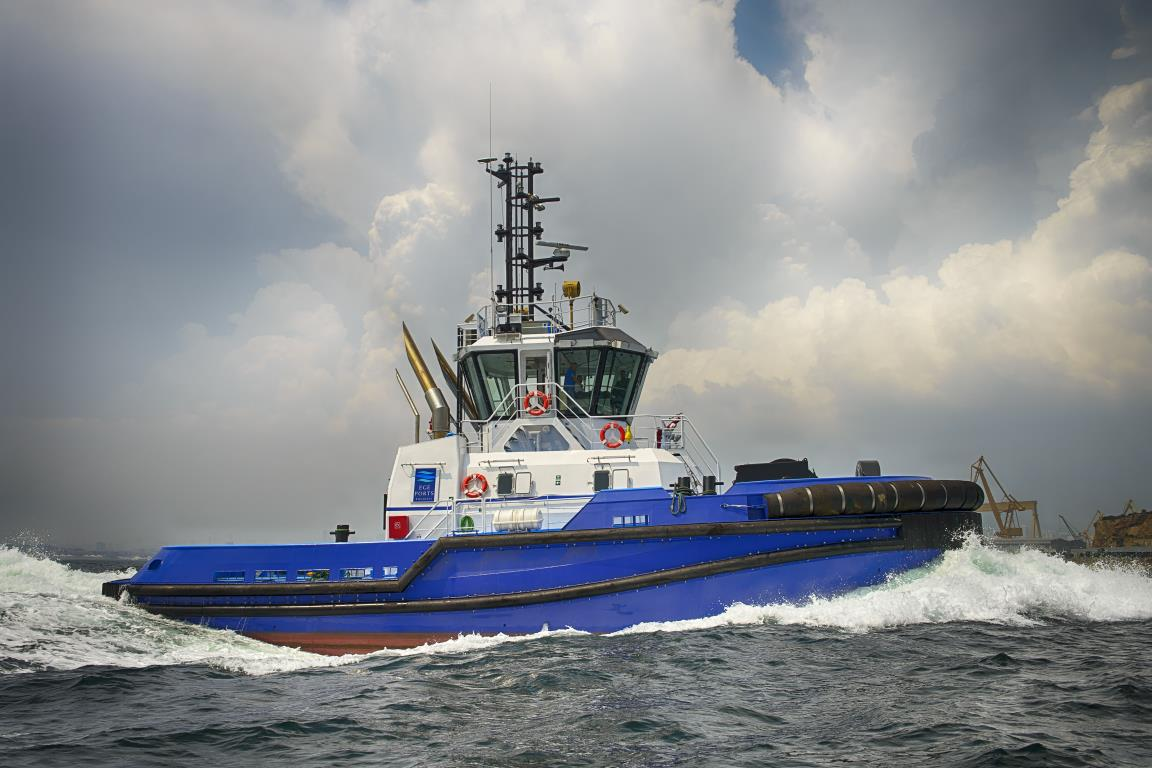 "Turkey's EGEPORT took delivery of Ramparts 2400SX design tug ""M/T Palaemon"""