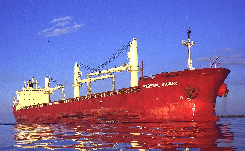 Bulk Grain Carrier Federal Rideau Aground in Lake St. Claire