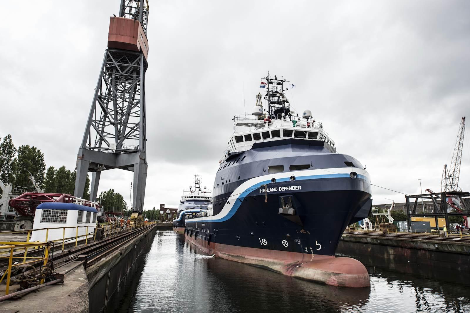 High-speed Shipdock antiroll retrofit onto GulfMark Platform Supply Vessels