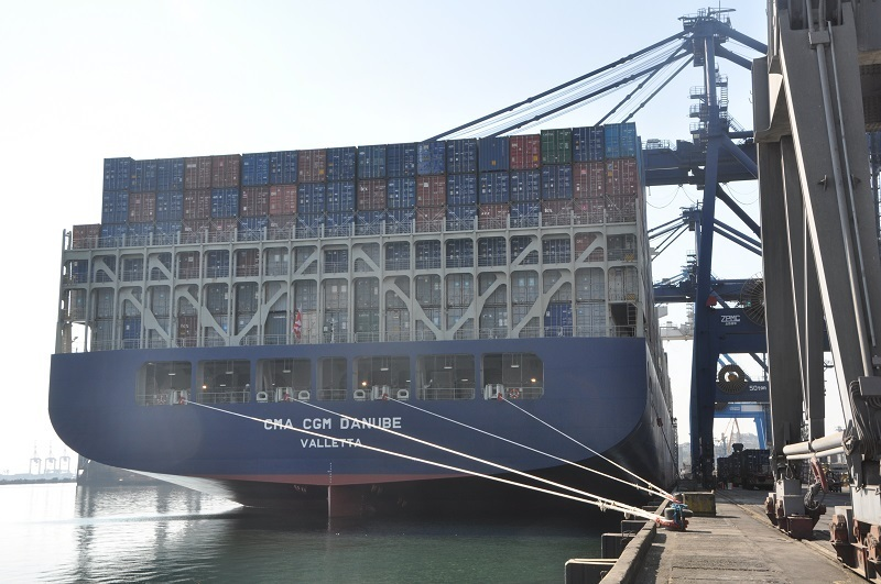 Ukraine's Port of Odessa handles its first 9,400-TEU containership