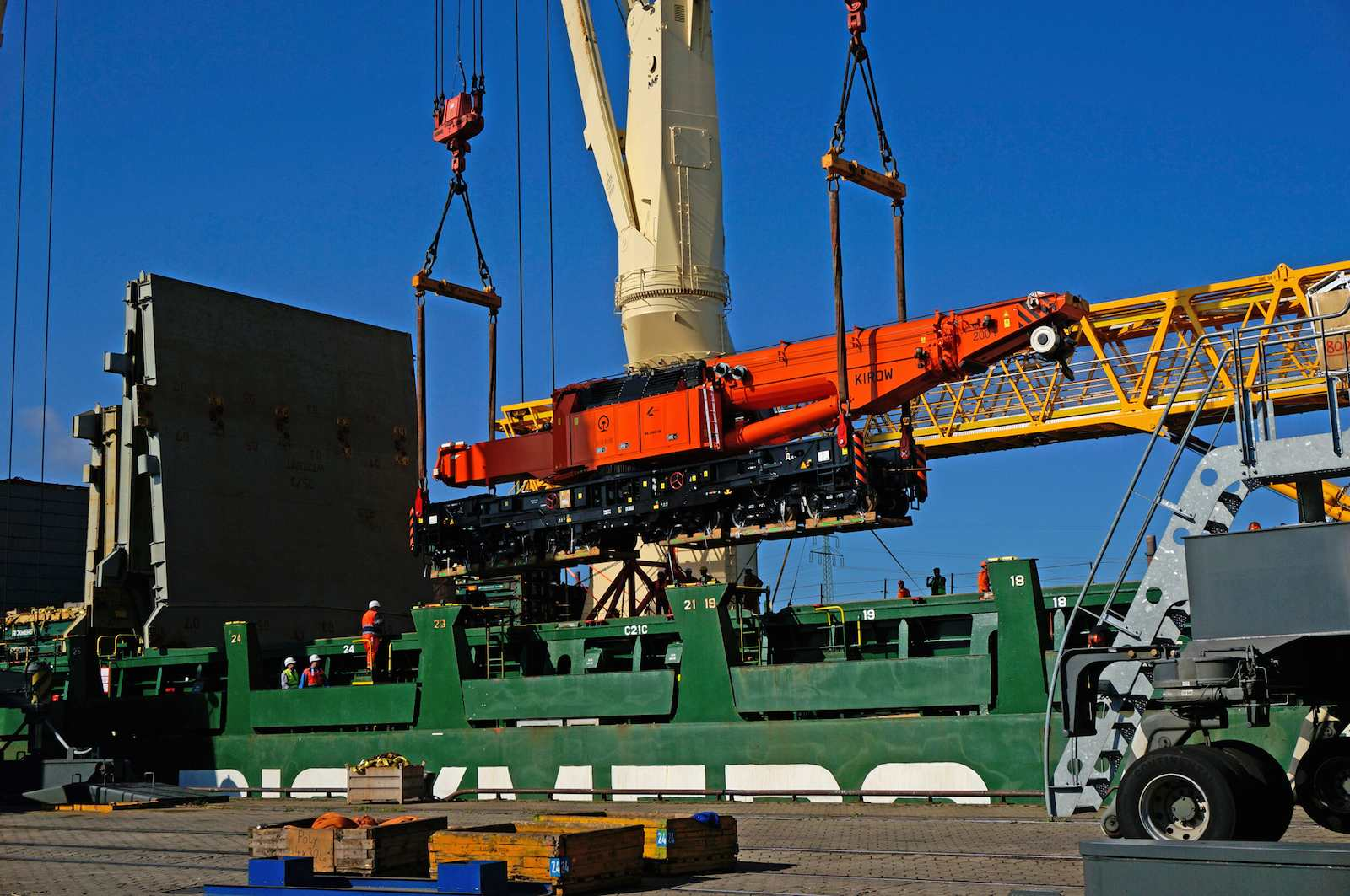 Rickmers-Linie is again the partner of choice for Kirow railway cranes to China