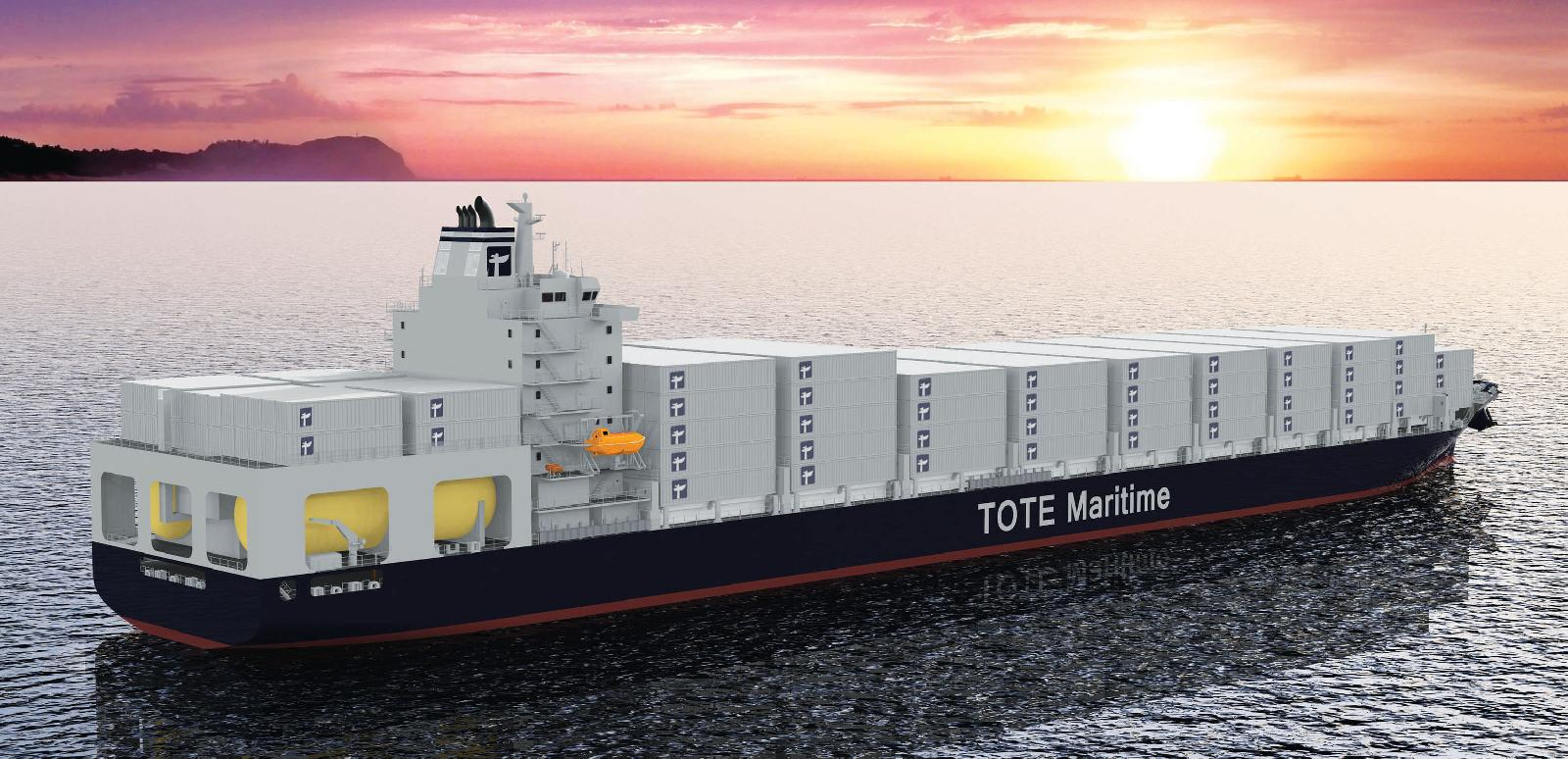First two LNG powered box ships fitted with dual-fuel slow speed engine