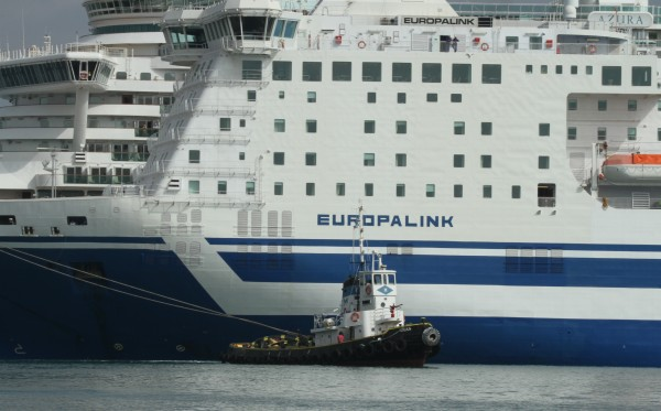 "Ferry ""Europalink"" breached in grounding"