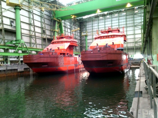 Nordic Yards Launches Pair of Multi-Purpose Icebreakers for Russia's Ministry of Transport