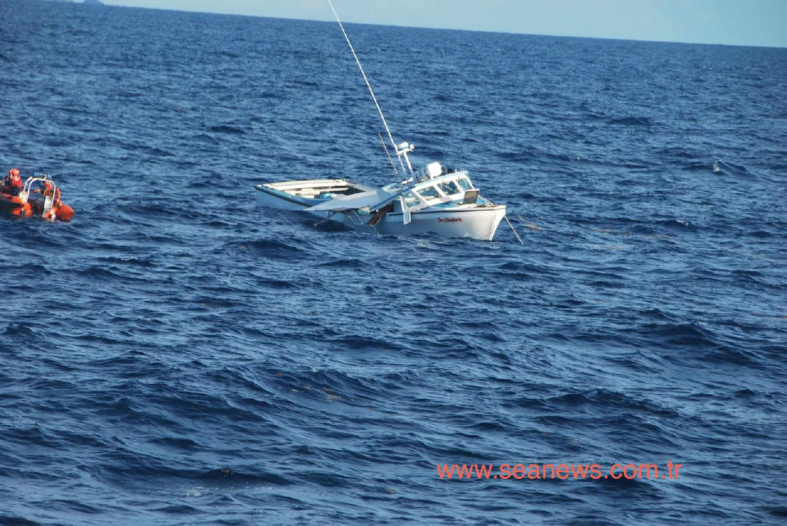 Coast Guard cutter collides with and sinks fishing boat