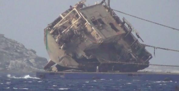 """Wreck removal of Turkish ship """"Yusuf Cepnioglu"""" completed at Mykonos"""