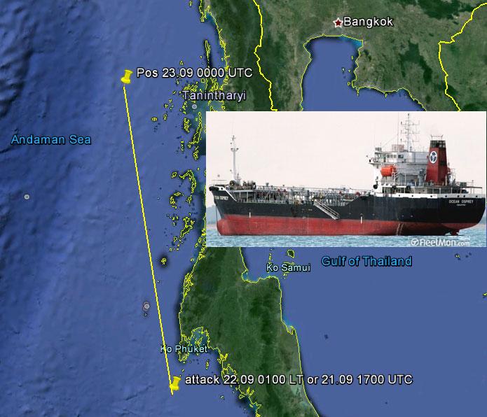Tanker Hijacked off Phuket Island, Thailand