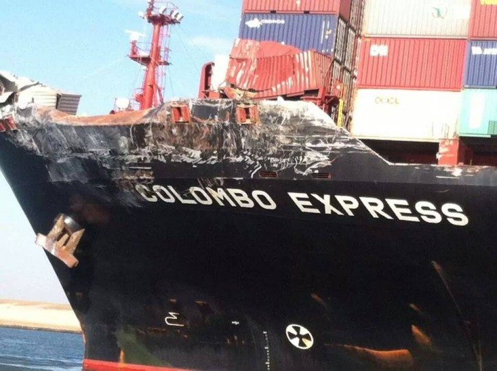 Colombo Express-Maersk Tanjong Collided at Suez Canal