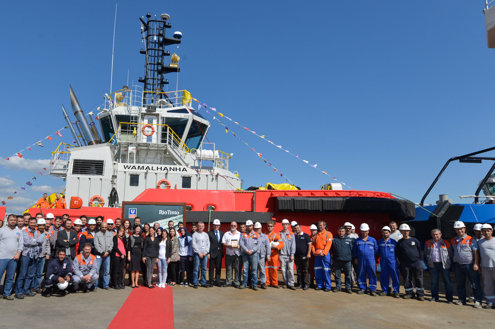 Turkey's UZMAR names RAstar 3200 tugboat WAMALHANHA on a ceremony