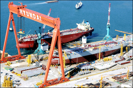 Losses induce Hyundai Heavy shipbuilding to cut executive suite 31pc