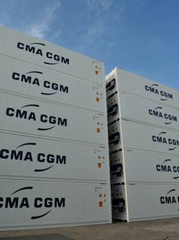 CMA CGM buys 7,000 FEU high-cube carbon-light reefer boxes