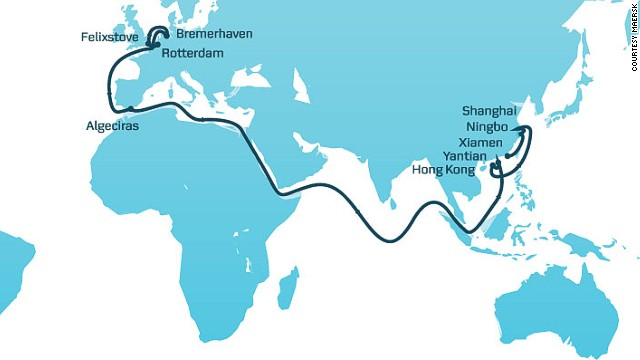 Maersk's Asia-Europe 2 service to receive first 18,340-TEU ship