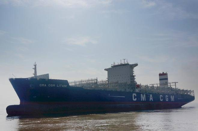 CMA CGM takes delivery of third 9,400-TEUer in series of 10 wide-beam ships