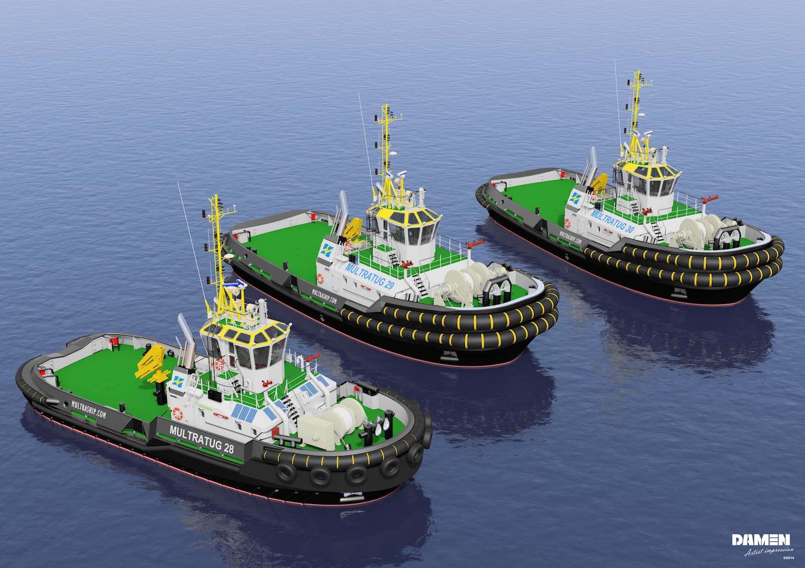 Multraship and Damen agree deals for three more ASD Tugs