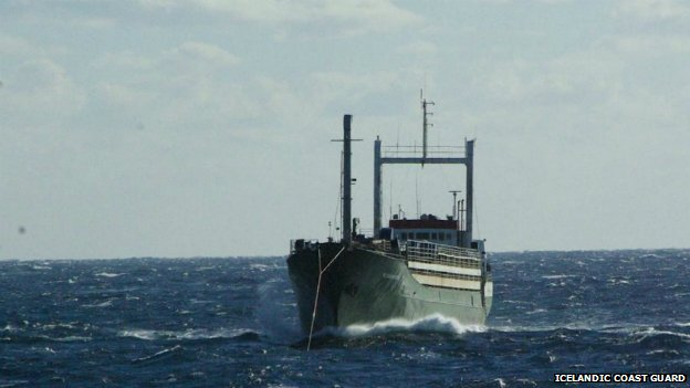 Human trafficking livestock carrier arrives at Italian port
