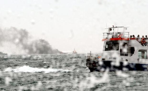 Bad weather warning for the Turkish Straits