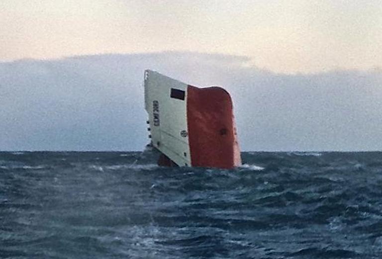 Cemfjord overturned and sank, 8 missing