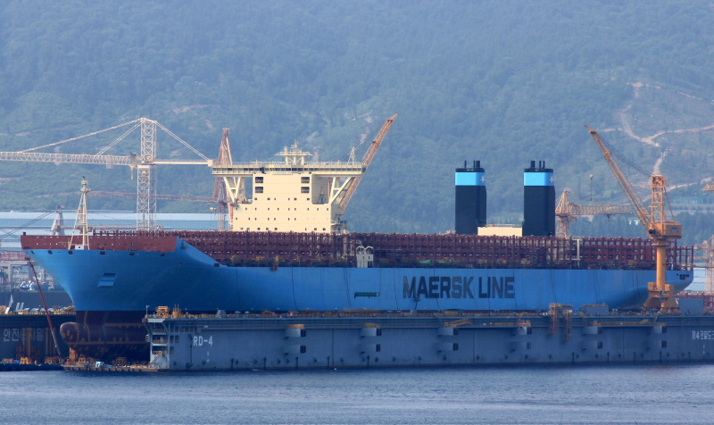Maersk's 14th Triple-E newbuilding to join a 2M Asia-Europe loop