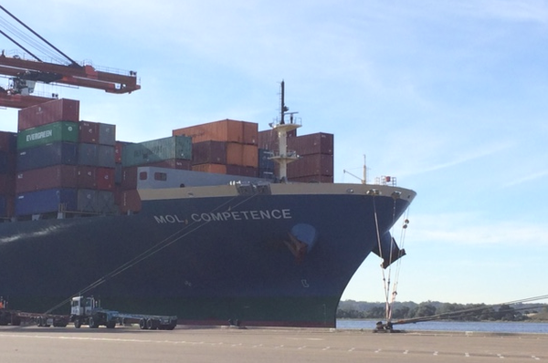 8,100-TEU MOL Competence biggest ship to call at Port of Jacksonville