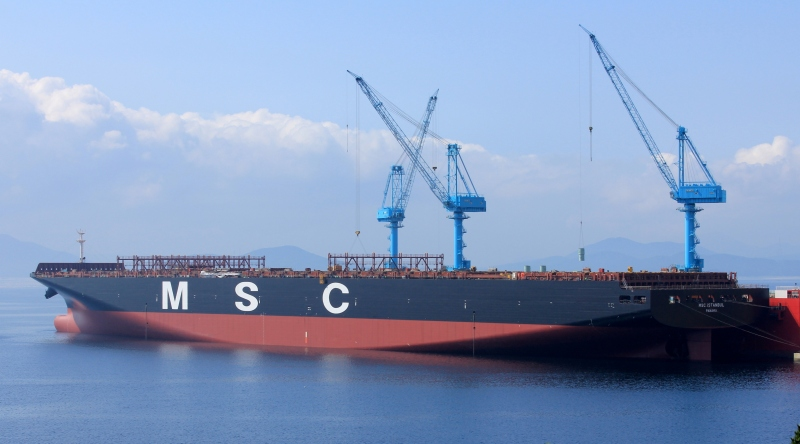 MSC takes on charter, new 15,908-TEU Istanbul from Korea's STX