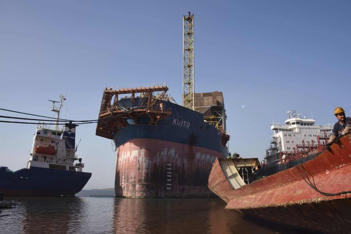 FPSO KUITO cleared and beached for demolition