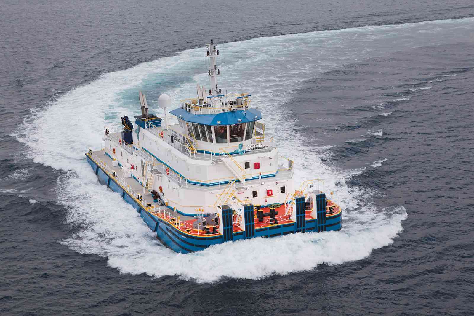 Uzmar delivers world's first offshore pushboats