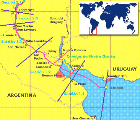 Bottleneck develops on as navigable water levels on River Plate fall