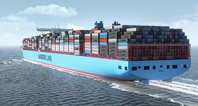 In the container ship business, it's all about size