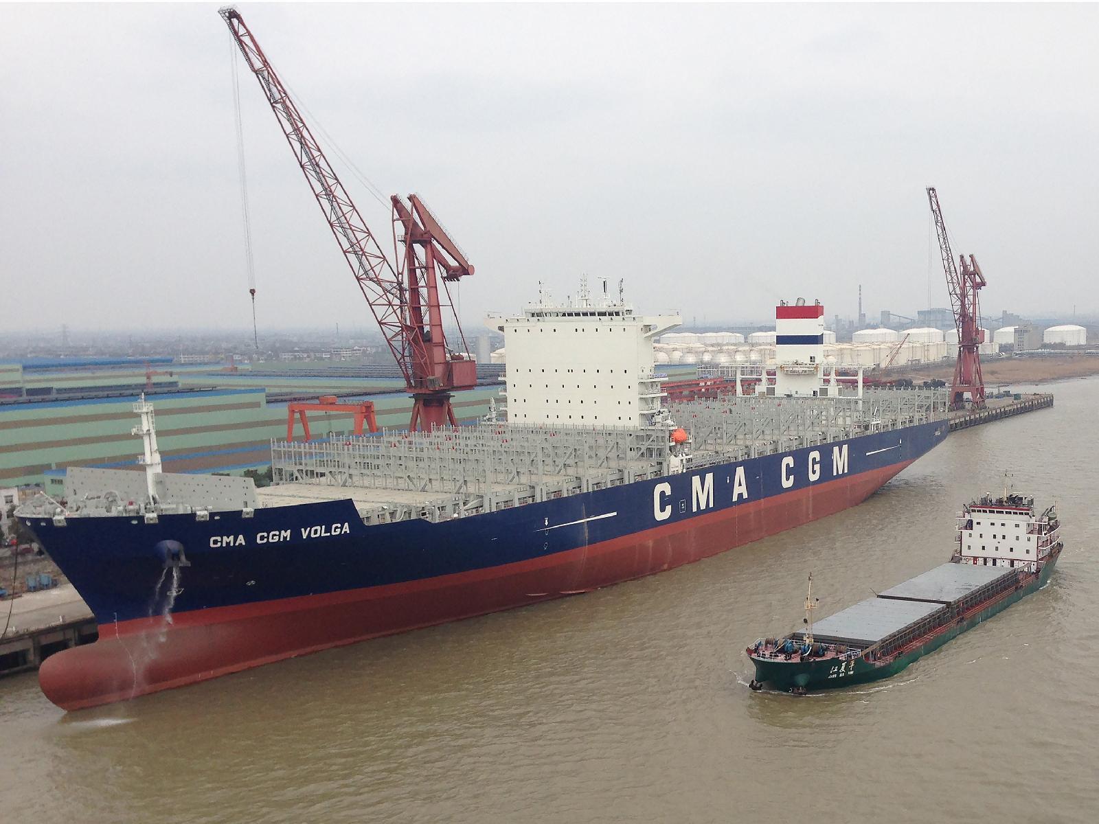 Reefer-rich 10,000-TEU CMA CGM Volga enters Asia-Black Sea ...