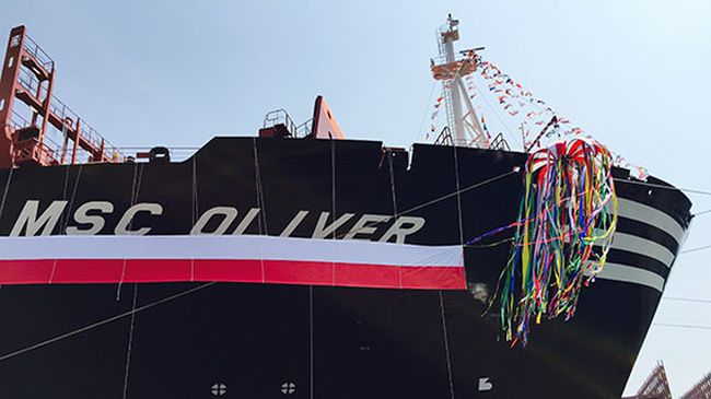 MSC Oliver – Second 19,224 TEU Giant Delivered to MSC