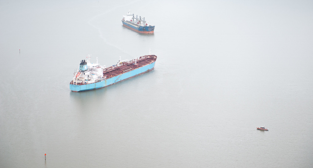 Video and mapped Carla Maersk, Conti Peridot collision with audio