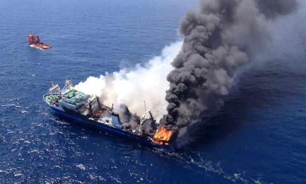 Spain investigates the sinking of fuel-laden Oleg Naydenov