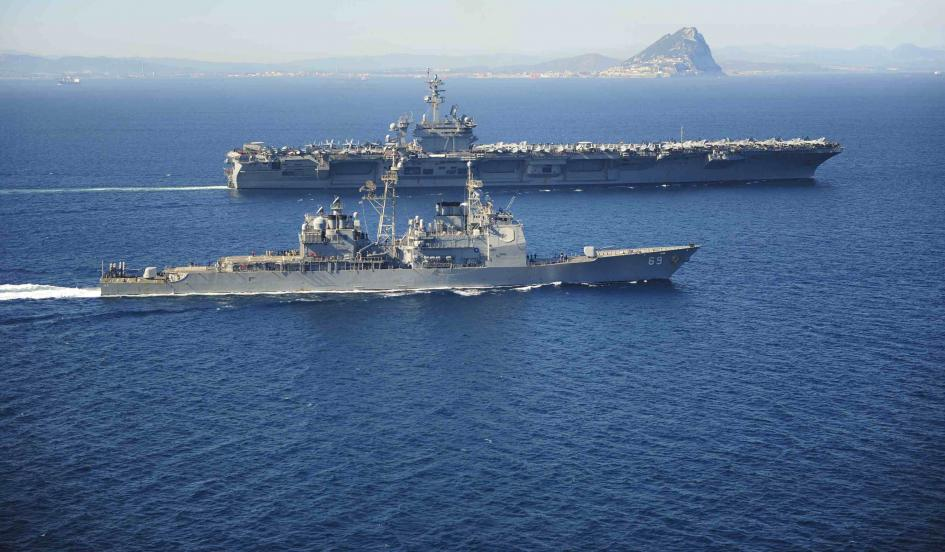 US carrier force joins Saudi, Egyptian, Iranian ships converging on Yemen