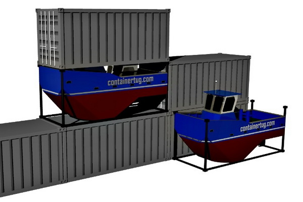 ContainerTug designs mini version that can be moved as easily as a TEU box