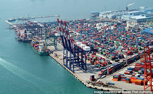 Busan March volumes rise 1.9pc 1.63 million TEU - 7.2pc up on February