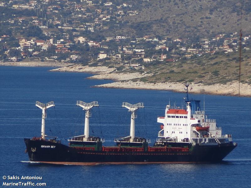 "Bulkcarrier ""Ibrahim Bey"" disabled in Mediterranean Sea"